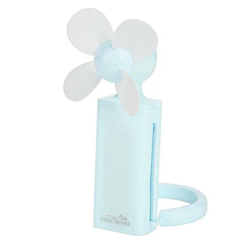 Eboxer Tragbarer Handelektrischer Minifan USB wiederaufladbarer Ventilator für Haus,Büro,Schlafen,Sommer usw.(Blau) -