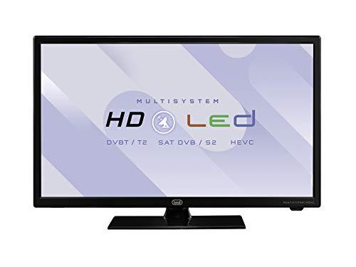 """Trevi ltv 1903 sat televisore led 19"""" con decoder digitale terrestre dvbt-t2 e satellitare dvbs-s2, alimentazione con cavo di corrente e presa accendisigari, risoluzione max 1366 x 768 dpi hd ready"""