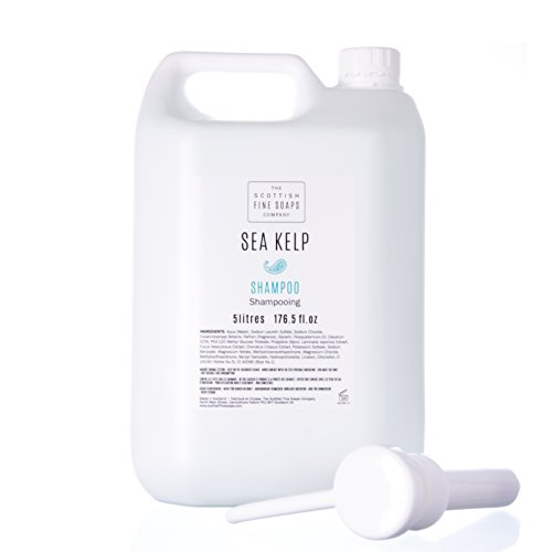 Scottish Fine Soaps Commercial Sea Kelp Hair Shampoo Refill with Pump Dispenser - Sea Clean Shampoo