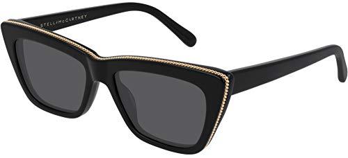 Stella mccartney occhiali da sole sc0188s black gold/grey 54/17/140 donna