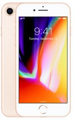 Apple iPhone FaceTime 256GB Gold - Apple iPhone 8 with FaceTime - 256GB, 4G LTE, Gold