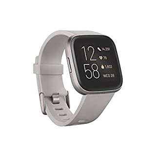 Fitbit Versa 2 Health & Fitness Smartwatch with Voice Control, Sleep Score & Music, Stone/Mist Grey (B07TYNMRZG) | Amazon price tracker / tracking, Amazon price history charts, Amazon price watches, Amazon price drop alerts