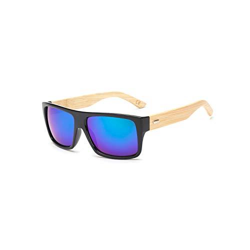 Vikimen Sports Eyewear, Original Wooden Bamboo Sunglasses Men Women Mirrored UV400 Sun Glasses Real Wood Shades Gold Blue Outdoor Goggles Sunglases Male KP 1523 C3 Green