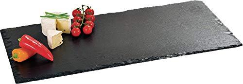 Kesper 38102 Buffet-Platte aus Schiefer, 60 x 30 cm Buffet Platte