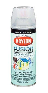 Krylon claro fusión 12 oz para la pintura de aerosol de plástico [conjunto de 6] clara