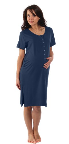 the-bamboo-birthing-shirt-midnight-blue-m-pre-preg-uk10-12-for-pregnancy-labour-breastfeeding