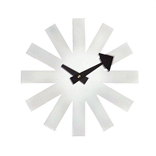 Metall-modernes Sofa (Wall clocks Flashing- 10inches Runde Metall Wanduhr, Moderne Sofa TV Hintergrund Wand Wohnzimmer Restaurant Schlafzimmer Eingang Hause Wand Diagramm (Farbe : Weiß))