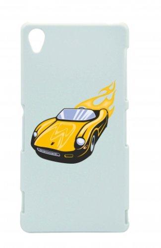 Smartphone Case Giallo Sport Wagen Cabrio con fiamme America Amy USA Auto Car lusso larghezza Bau V8V12Motore cerchione Tuning Mustang Cobra per Apple Iphone 4/4S, 5/5S, 5C, 6/6S, 7