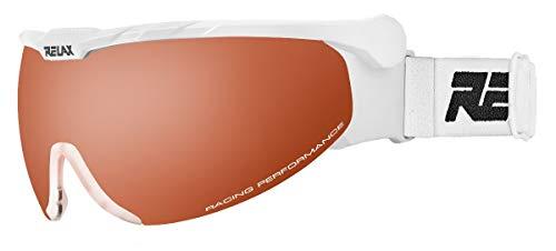 Relax Skibrille Nordic | Langlaufbrille | Biathlonbrille | Skatingbrille | Skitourenbrille (weiß)