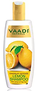 Vaadi Herbals Dandruff Defense Lemon Shampoo with Extract of Tea Tree, 350ml