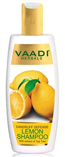Zitrone Vaadi Herbals mit Tee-Baum-Auszug-Shampoo Schuppen-Verteidigungs-Shampoo - ALLES natürliche Shampoo - Paraben-frei- Sulfat-frei- Kopfhaut-Therapie - Feuchtigkeits-Therapie für alle Haar-Arte -