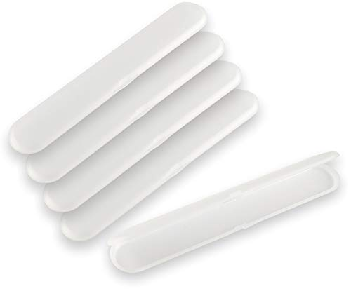 5 Stück Aufbewahrungsbox Klappbox Feilenbox (leer) für 1 Standard Nagelfeile (180mm) transparent