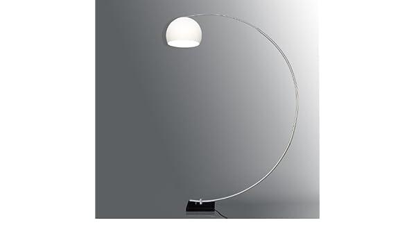 Designer Standleuchte Bogenlampe Bogenleuchte 250cm Chrom