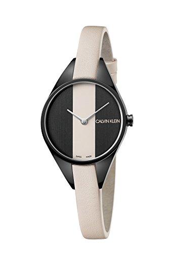 Calvin Klein Reloj Analógico para Mujer de Cuarzo con Correa en Cuero K8P237X1