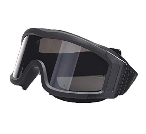 Männer Sonnenbrille Brille Wüste Winddicht Anti Fog Sandschießbrille Black Damen Herren