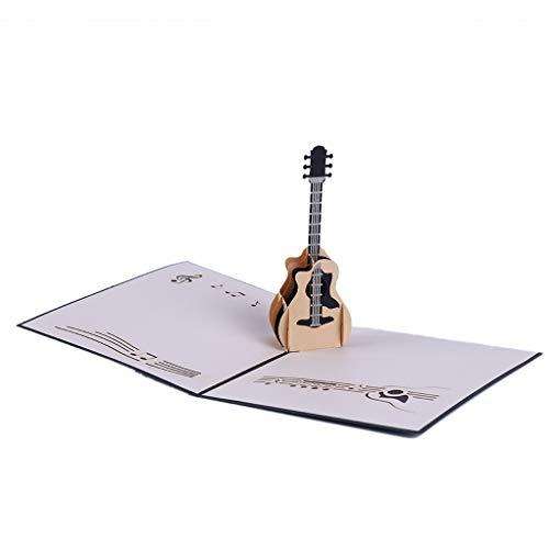 SEVENHOPE Gitarre Design 3D Pop Up Karte Grußkarte Geburtstagskarte Gitarre Geschenk Musik Geschenk Für Gitarrist Musiker