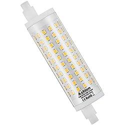 Ampoule LED R7S 118mm Dimmable 15W Azhien,Blanc Chaud 2700K,15 Watt Équivalent Lampe Halogene R7S 80W 100W 125W, 1700LM-2000LM, 230V,360 Degrés, J Type J118 R7S Led Dimmable, Lot de 1
