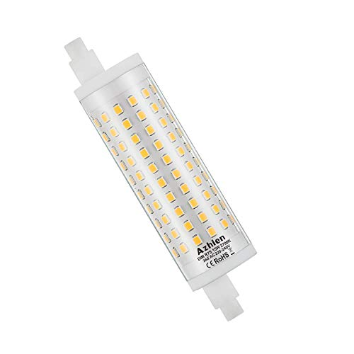 R7S LED 15W 118mm Dimmbar Doppelende Lineare Reflektorlampe Azhien, Warmweiß 2700K,15 Watt, entspricht 80W 100W 125W R7S Halogenlampe Dimmbare,230V AC,1700LM-2000LM,360 Grad,1er Pack