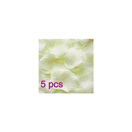 Hemore Weiße Blütenblätter, 5 Packungen (100 Stück/Paket), Rosenblüten, künstliche Seide, Dekoration für Hochzeit, Festival Abende Party