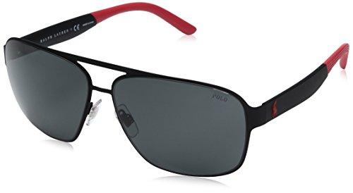 Polo Ralph Lauren Herren 0Ph3105 931987 62 Sonnenbrille, Schwarz (Rubbblack/Grey)