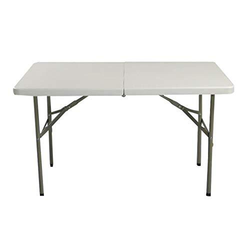 MYAOU&Laptop desk Klapptisch rechteckige Kunststoff Falten in der Hälfte 400 kg Tragfähigkeit mit Tragegriff im Freien weiß (122 * 61 * 74 cm)