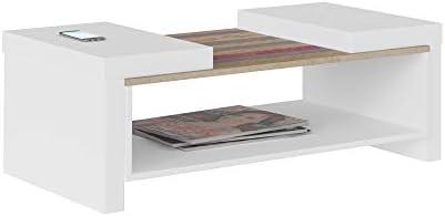 Artely MDF/MDP Veneza Coffee Table, White/Antique, H36.5 x W59 x D100.5 cm