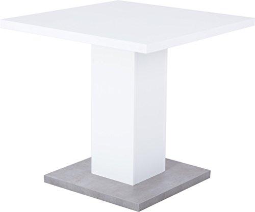 Reality Import R4397-11 Esstisch, Spanplatte, weiß, 80 x 80 x 76 cm