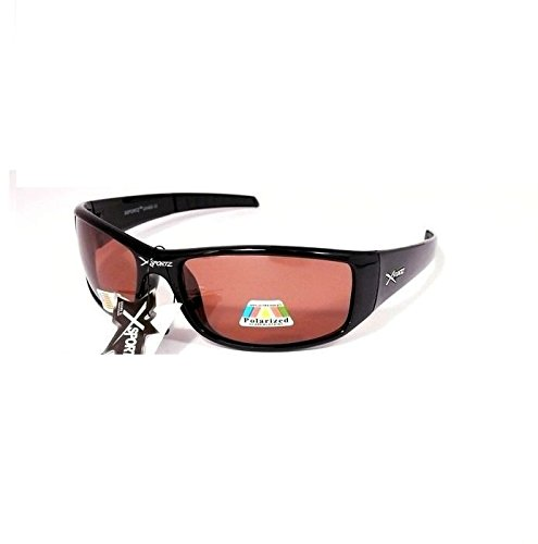 lunettes de soleil polarisantes polarisées sport verres polarisés homme femme XS49 (monture noire verres rouge, largeur:135mm hauteur:41mm)