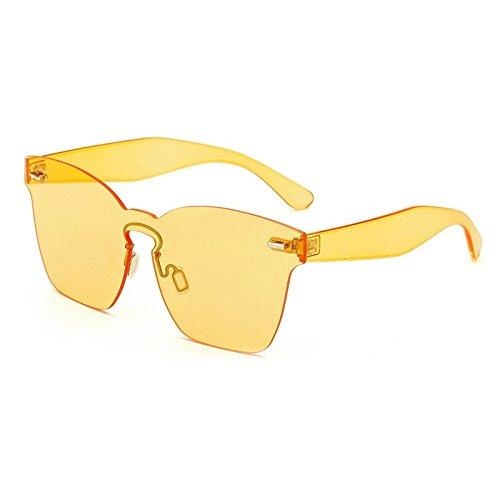 TIANLIANG04 Frauen so Sonnenbrille Twin-Travi Runde Sonnenbrille Beschichtung Flat Panel UV-Objektiv 400, C 02 Blau zu spiegeln (Blaue Twin-panel)
