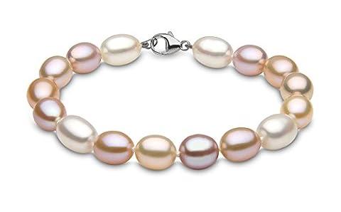 Kimura Pearls 9 ct White Gold 9 mm Natural Multicolour