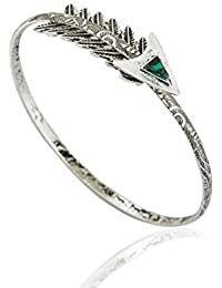 TBOP BRACELET THE BEST OF PLANET Simple And Stylish Jewellery Cupid Arrow Gem Arm Ring Bracelet In Silver Color...