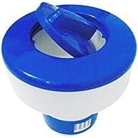 Moliies Dispensador Flotante de la Tableta química del Cloro Dispensador químico de la Piscina del Tenedor automático de la Tableta del bromo para el Balneario de la Piscina