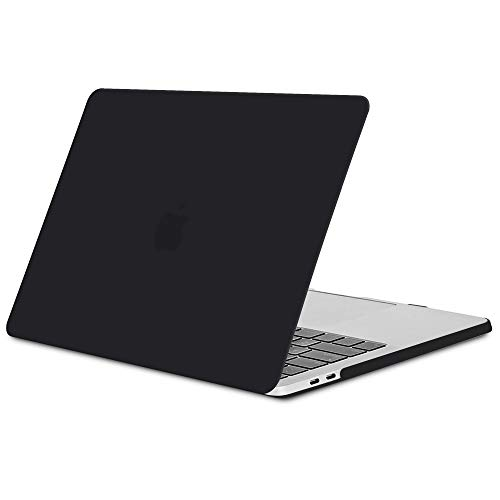 TECOOL Hülle für MacBook Pro 15 Zoll 2018/2017/2016, Slim Plastik Hartschale Schutzhülle Snap Case für Apple MacBook Pro 15,4 Zoll mit Touch bar (Modell:A1707 A1990) - Schwarz - Macbook Retina 15 Klar Pro Das Case