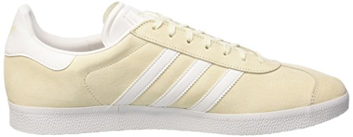 adidas Unisex-Erwachsene Gazelle Low-Top Weiß (Off White/White/Gold Metallic)