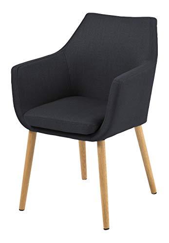 AC Design Furniture Stuhl Trine, B: 58 x T:58 x H: 84 cm, Metall, Grau