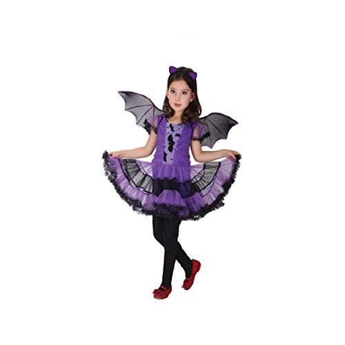 Kostüm Farbe Kleinkind Knochen - Blingko Kinderkostüme Halloween Karneval Kleinkind Kinder Baby Mädchen Halloween Kleidung Kostüm Kleid + Haarband + Bat Wing Outfit Kinder Halloween Kostüm Kostüm lila