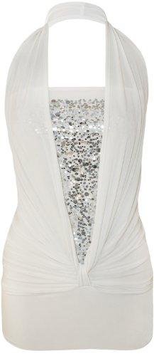 Xclusive Collection Damen Neckholder Kleid Weiß