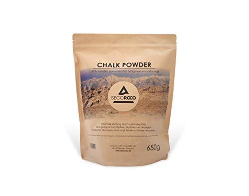 Secoroco Chalk Powder 650g, ideales Magnesiumcarbonat zum Klettern, Bouldern & Kraftsport. Abgefüllt in einem Beutel mit Druckverschluss