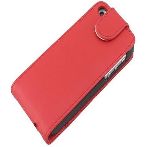 Colorful Up tirón y abajo con bolsillo Funda de piel para iPhone 5C.