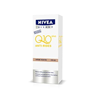 Nivea Q10+ antiarrugas crema teñida 50ml