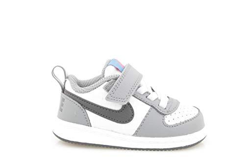 Nike Jungen Court Borough Low (TDV) Basketballschuhe, Mehrfarbig (Cool Grey/Anthracite/Pure Platinum 006), 27 EU