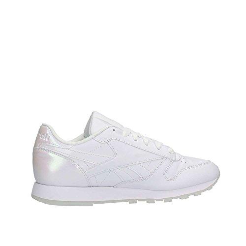 Reebok Cl Lthr L, Scarpe da Corsa Donna Multicolore (Pearl-White/White/Ice)