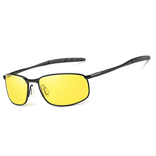 CVOO Polarized HD Night Vision Driving Glasses Anti-Glare For Day Evening  Car Rides 6ffbbedfab9d