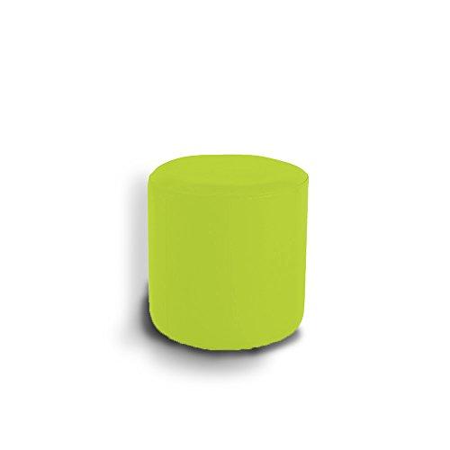 RONNIEART Sitzsack Harte Zylindrische aus Kunstleder für Außen Innen 35x 35cm Verde Acido