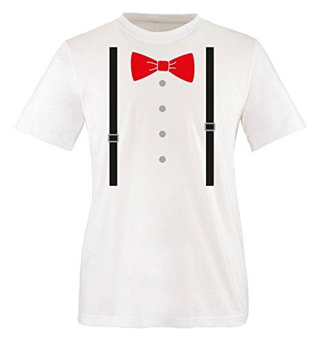 Comedy Shirts - HIPSTER KOSTÜM - Herren T-Shirt - Weiss / Schwarz-Rot Gr. (Beast Tier Herren Kostüm Beauty)