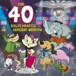 Geburtstagskarte mit Musik 3868-034E zum 40. Geburtstag