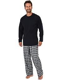 15e396eaa4 Herren Schlafanzug Pyjama lang mit Flanell Hose - auch in Übergrößen - 281  ...