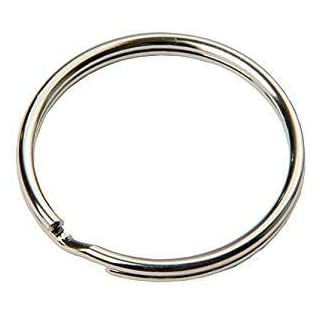 FD-Workstuff Schlüsselring Ø 30 mm -100- Stück Stahl, glänzend, Schlüsselringe,leicht aufbiegbar,vernickelter Stahl