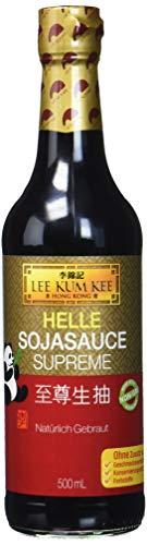 Lee Kum Kee Sojasauce hell (aus China, natürlich gebraut, ohne Geschmacksverstärker, würzig) 1 x 500 ml