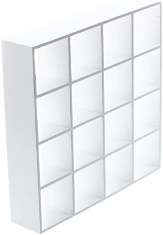 CUHAWUDBA 1/12 Maison Maison Maison de Poupee Miniature 4 Contreplaque Presentoir Modele Blanc B07MCS14WH 266da1
